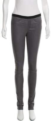 Helmut Lang Leather Low-Rise Pants