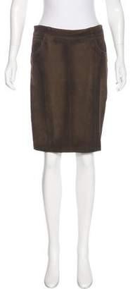 Burberry Suede Pencil Skirt