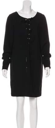 Thomas Wylde Long Sleeve Shift Dress