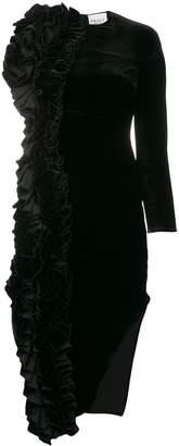A.W.A.K.E. Mode asymmetric midi dress
