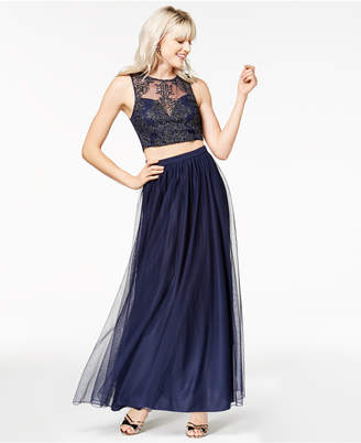 Speechless Juniors' 2-Pc. Embellished Gown, Created for Macy's
