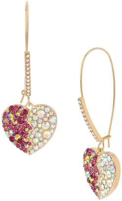 Betsey Johnson Achy Breaky Hearts Crystal Drop Earrings