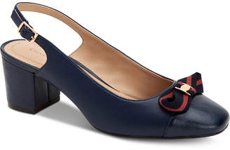 Charter Club Pearla Bow Slingback Pumps, Created for Macy's Women's Shoes