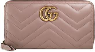 Gucci GG Marmont zip around wallet