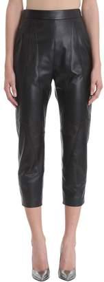 Neil Barrett Black Leather Trousers