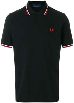 Fred Perry X Art Comes First striped trim polo shirt