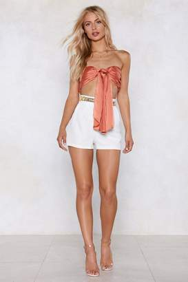 Nasty Gal Satin the Drivers Seat Bandeau Top