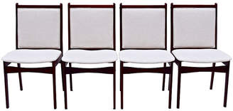 One Kings Lane Vintage Danish Rosewood Dining Chairs - Set of 4 - Cannery Row Home