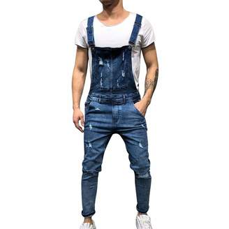 6438410834 spyman 2019 Fashion Men's Ripped Jeans Jumpsuits Street Distressed Hole  Denim Bib Overalls for Man Suspender