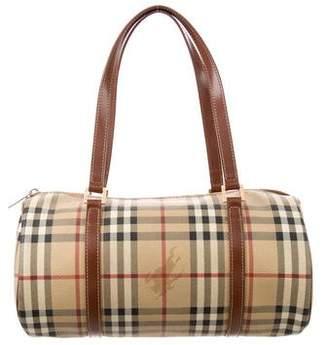 Burberry Haymarket Check Barrel Bag