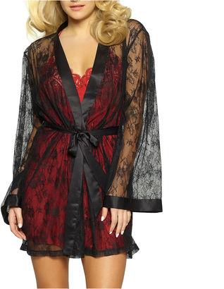 JEZEBEL Jezebel Tama Long Sleeve Lace Kimono Robes