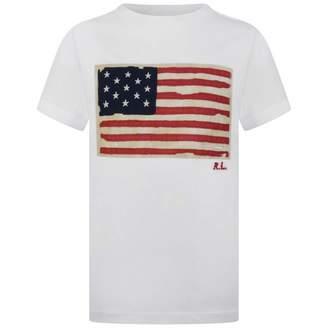 Ralph Lauren Ralph LaurenBoys White Cotton Flag Top