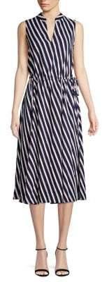 Anne Klein Striped Midi-Dress