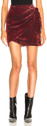 IRO Baying Skirt in Black & Red | FWRD