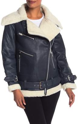 Walter W118 by Baker Celine Faux Fur Leather Jacket