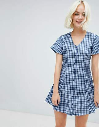 Daisy Street skater dress in check