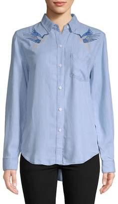 Rails Women's Embroidered Birds Button-Front Shirt