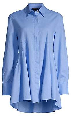 Donna Karan Women's Long-Sleeve Asymmetric Hem Tunic