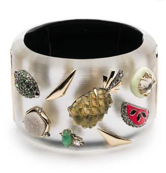 Alexis Bittar Fruit Studded Hinge Bracelet