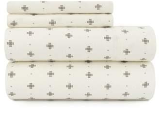 Pendleton Stella Cross Flannel Full Sheet Set - Ivory