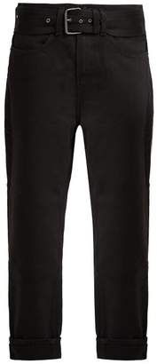 Proenza Schouler Pswl - Straight Leg Belted Turn Up Jeans - Womens - Black