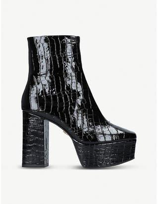 Kurt Geiger London Spritzer mock-croc leather platform boots