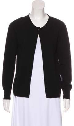 Fabiana Filippi Wool Knit Cardigan Black Wool Knit Cardigan
