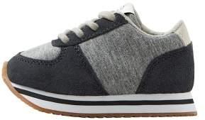 MANGO Suede panels sneaker