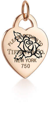 Tiffany & Co. Return to TiffanyTM Etched rose heart tag charm
