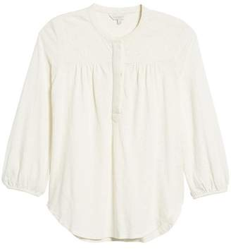 Lucky Brand Embroidered Long Sleeve Top