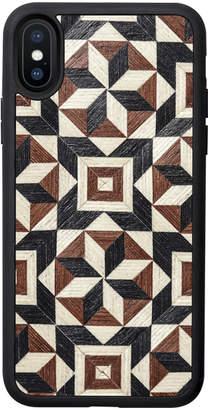 Tarxia Taracea Geometric Wood Inlay iPhone Case