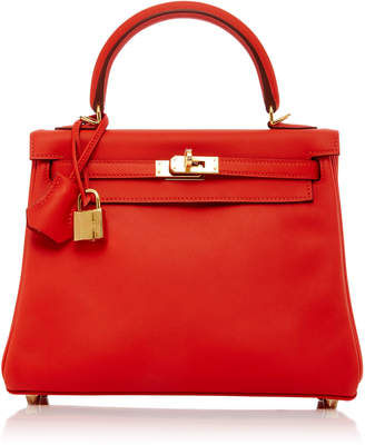 Hermes Maia 25cm Red Capuccine Swift Leather Kelly