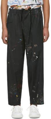 Yohji Yamamoto Black Flat Pain Trousers