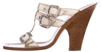 Emporio Armani Leather High Heel Sandals