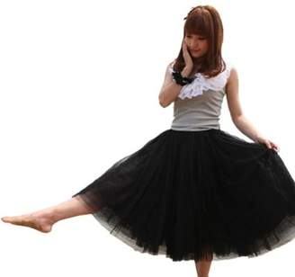 Angel Wings Women Five-layer Voile Puff Princess Skirt,petticoat Knee-length Mini Dress