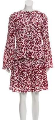 Oscar de la Renta Printed Silk Skirt Set w/ Tags Red Printed Silk Skirt Set w/ Tags