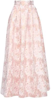 Zalinah White - Nour Structured Pleated Maxi Skirt In Cosmetic Rose Gold