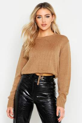 boohoo Ruched Hem Soft Knit Jumper