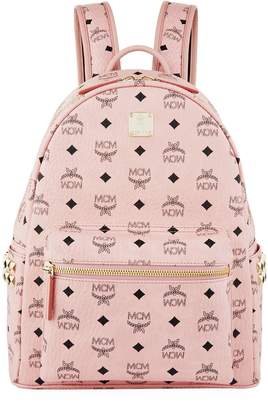 MCM Semi-Medium Studded Stark Backpack