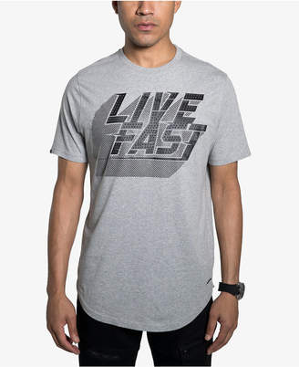 Sean John Mens Live Fast Graphic T-Shirt