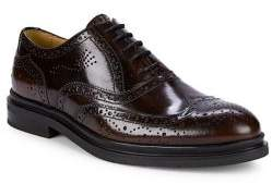 Black & Brown Black Brown Full Brogue Leather Oxford Shoes