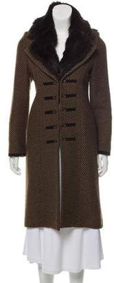 Fendi Fur Collar Wool-Blend Coat