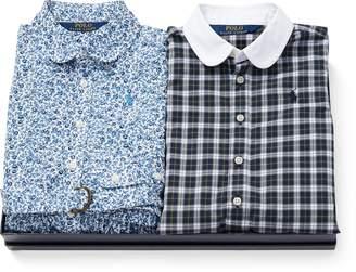 Ralph Lauren Cotton Dress 2-Piece Gift Set