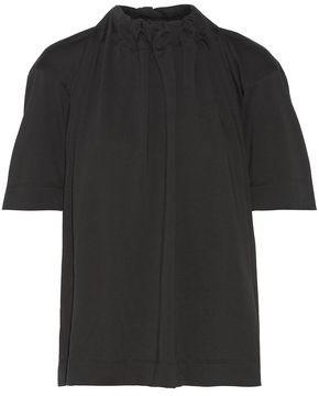 Marni Gathered Stretch-Cotton Jersey Top