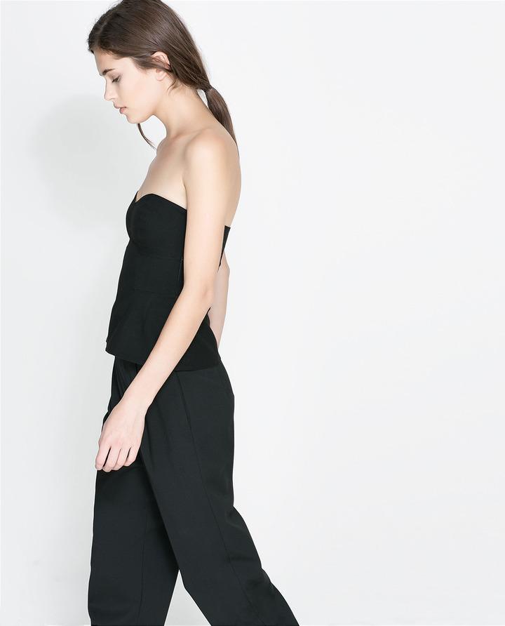 Zara Wool Bustier Top