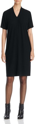 Eileen Fisher V-Neck Tee Dress $198 thestylecure.com