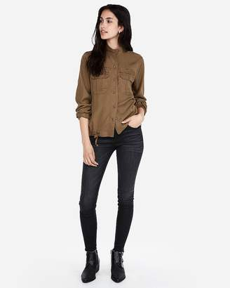 Express Slouchy Military Shirt