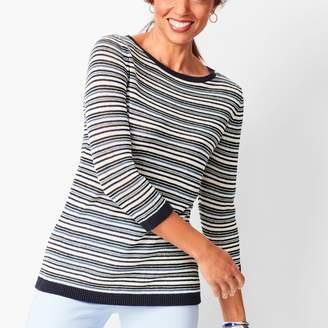 Talbots Linen Stripe Sweater