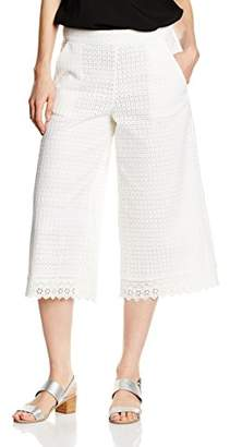 French Connection Women's Wide Leg Trousers - White