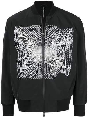 Blackbarrett goal mesh print bomber jacket